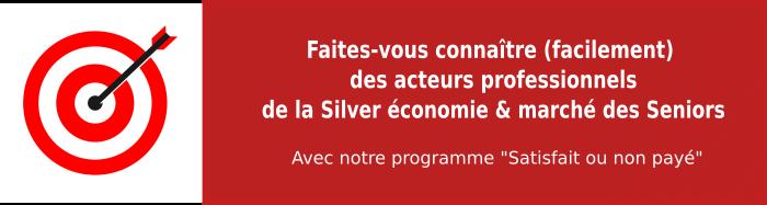 Ciblez les acteurs professionnels de la Silver économie