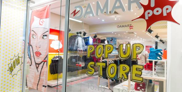 Damart Pop, la boutique éphémère dédié au Thermolactyl