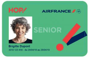 Carte Senior Hop Air France