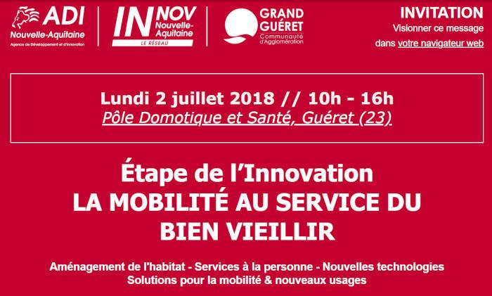 La mobilite au service du bien vieillir @ Pôle Domotique et Santé | Guéret | Nouvelle-Aquitaine | France