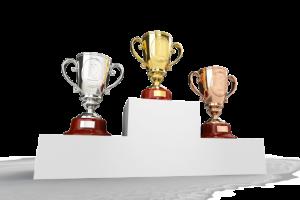 Les trois gagnants des Silver Awards