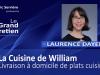 Laurence Dayen : La Cuisine de William, la livraison à domicile de plats cuisinés